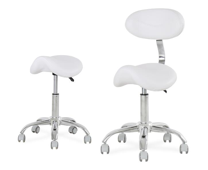 Ergonomic Doctor Stool Dentist Swivel Rolling Chair with Back Swivel Adjustable Dentist Stool Dental Clinic