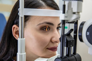 Slit lamp examination
