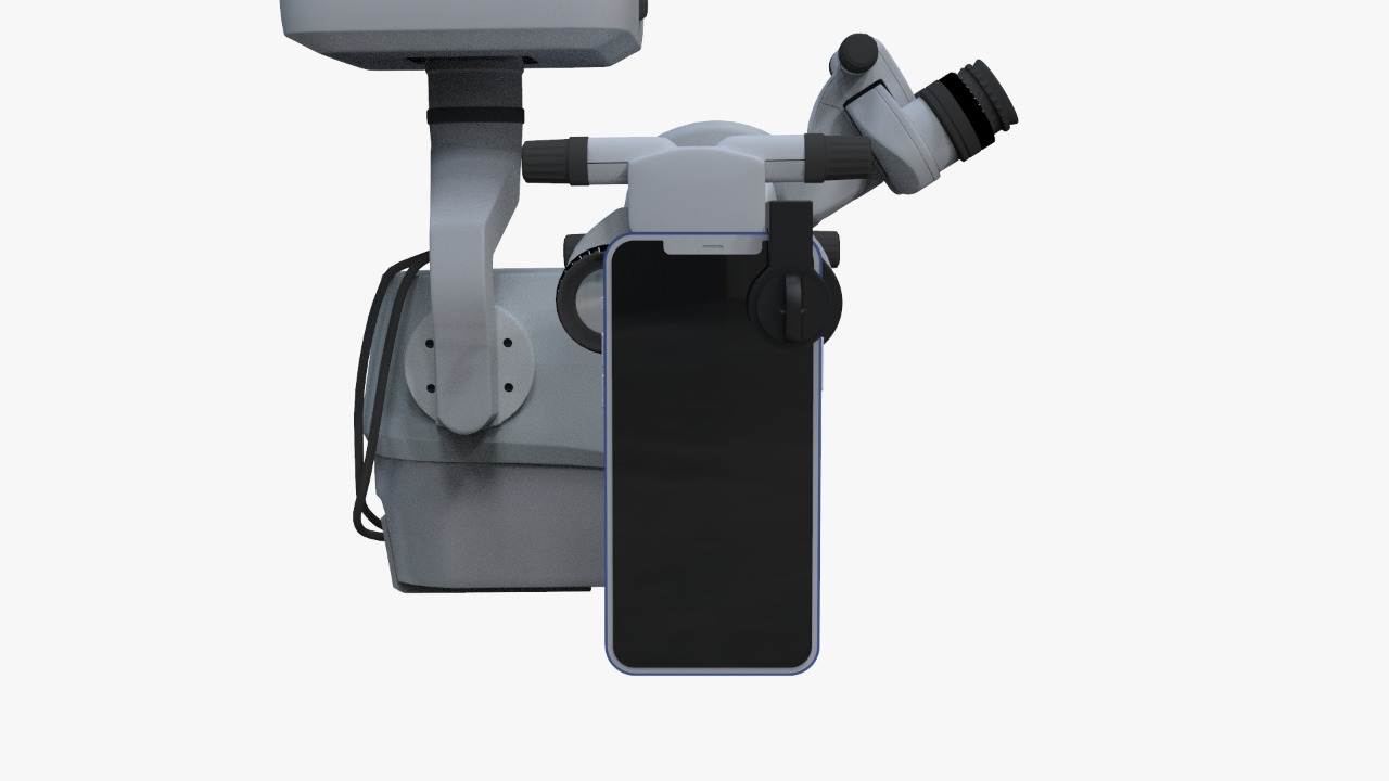 smartphone adaptor for opthalmic surgical microscopes